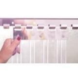 Replacement Ribbed, Clear PVC Strip Curtain - Per Metre (PVC Strip)