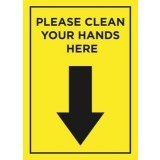 Please Clean Your Hands A4