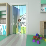 Plastic strip curtain for school and nursery - child safe free flow curtain