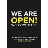 We are open A1 board