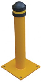 Small Yellow Loading Bay Steel Bollard