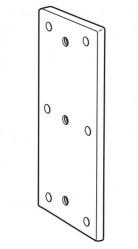 Dock Bumper Back Plate - Galvanised Mild Steel - RBP0301