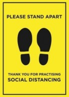 Please stand apart social distancing a1 board poster