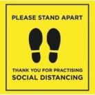 Please Stand Apart - Floor Sticker