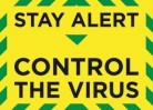 Stay alert control the virus window sticker