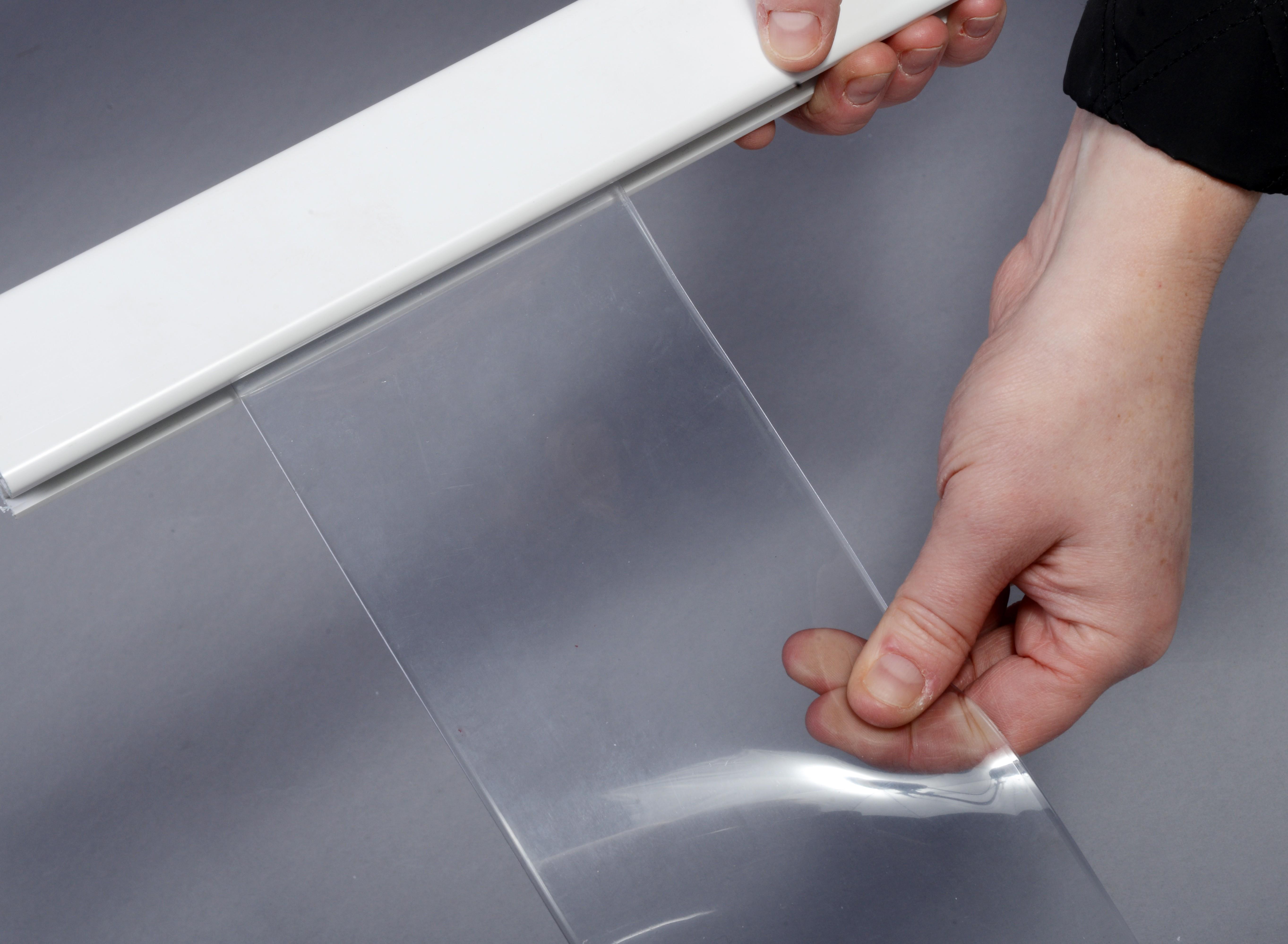 rayflex dual chiller fridge blinds strip pvc fixing freezers g blind fridges fix parts open