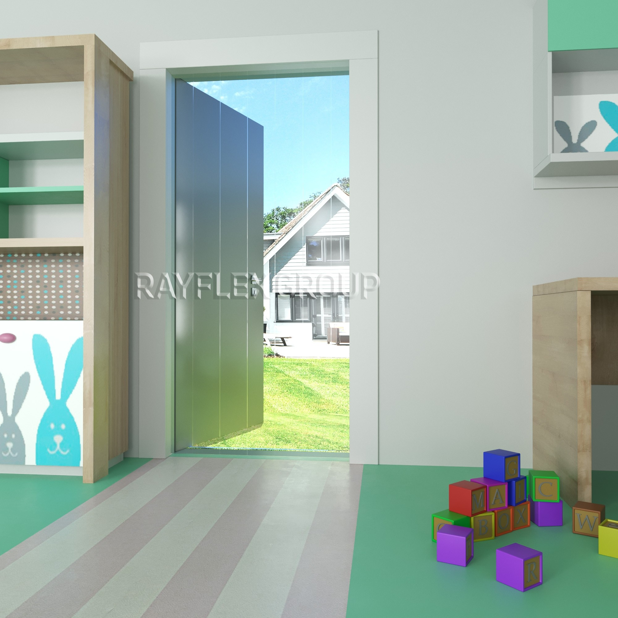 Plastic Strip Curtains For School And Nursery